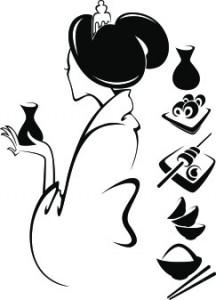 Sticker De Perete Silueta Chinezeasca 2