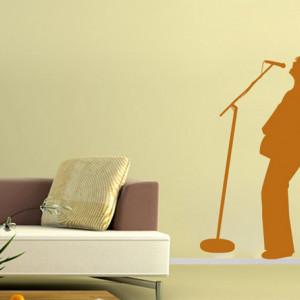 Sticker De Perete Solist Rock