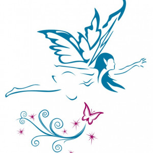 Sticker De Perete Zana Cu Fluture