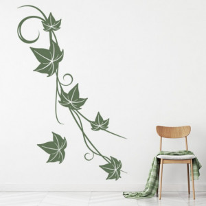 Sticker Ivy Vine Leaves Floral Swirl