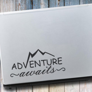 Sticker laptop - Aventure awaits
