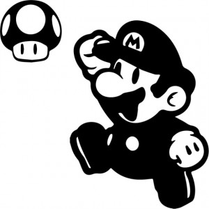 Sticker laptop - Mario
