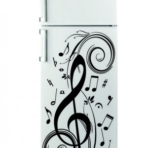 Sticker pentru Frigider - Muzica