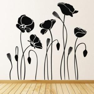 Sticker Poppy Flowers Floral