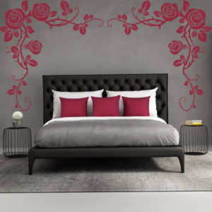 Sticker Rose Flower Headboard