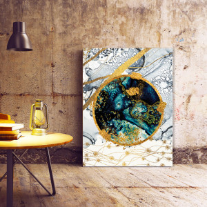 Tablou Canvas Abstract Blue Planet