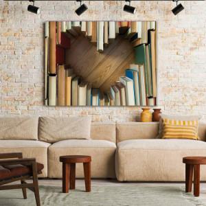 Tablou Canvas Heart Shaped Books