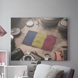 Tablou Canvas Romania Steag Miniatura