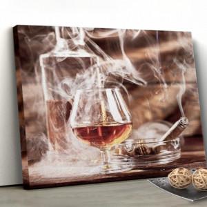 Tablou Canvas - Smoke And Whiskey