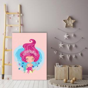 Tablou copii - Cute Pink Mermaid