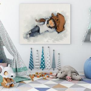 Tablou copii - Enjoying the snow