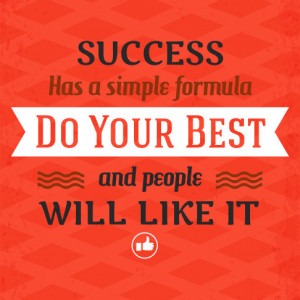 Tablou motivational - Do your best and people will like it