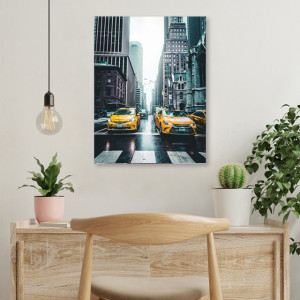 Tablou office - New York cabs