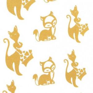 Tatuaj temporar -pisici aurii- 17x10cm