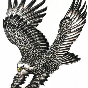 Tatuaj temporar -Vultur- 24X22CM
