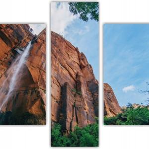 Tablou canvas 3-5 piese colaj natura munte de catarat