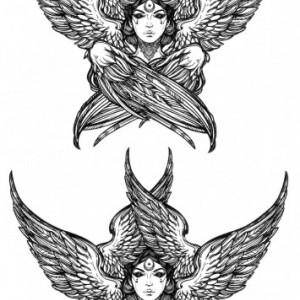Tatuaj temporar -Angel Girl- 17x10cm