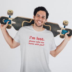 Imprimeu tricou I AM LOST