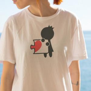 Imprimeu tricou INIMA PUZZLE (EA)