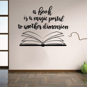 A book is a magic portal