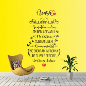 Acasa - sticker decorativ perete