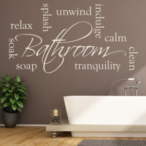 Bathroom Words Relax Soak