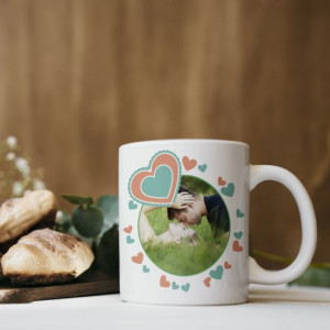 Cana Personalizata - Cerc Si Inimioare