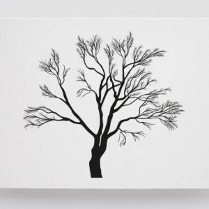 Finger print tree maroon