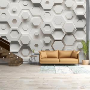 Foto tapet Abstract hexagones