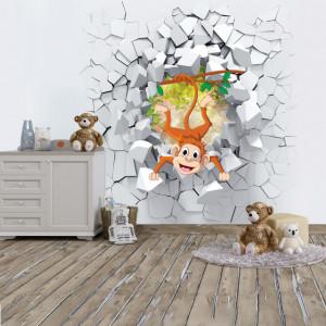 Foto tapet Monkey in the wall