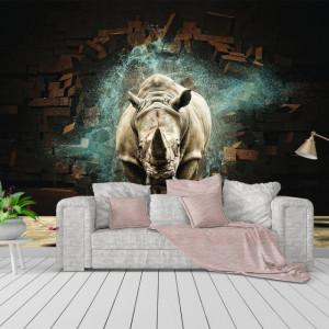 Foto tapet Rinocer