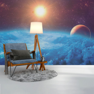 Foto tapet Sun and space