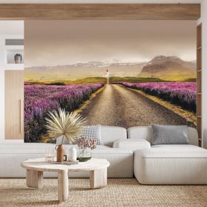 Foto tapet Violet fields