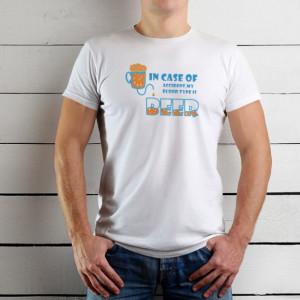 Imprimeu tricou BLOOD TYPE BEER