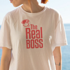 Imprimeu tricou THE REAL BOSS