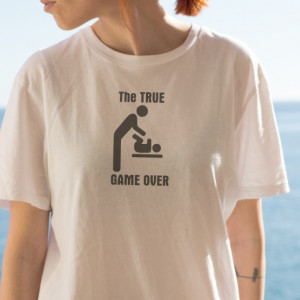 Imprimeu tricou THE TRUE GAME OVER