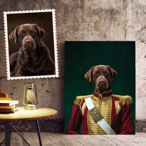 Portret personalizat cu poza ta - Napoleon (animal de companie)