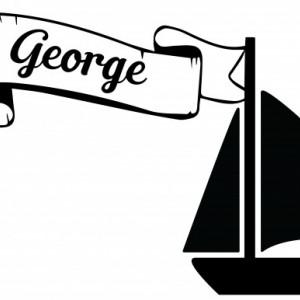 Sticker cu nume - George