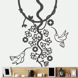 Sticker De Perete Colibri Si Flori