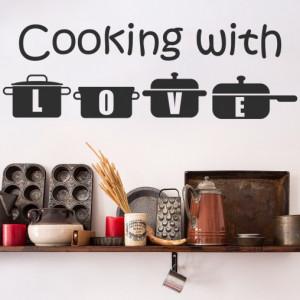 Sticker De Perete Cooking With Love