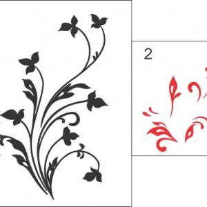 Sticker De Perete Floare Moderna