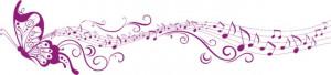Sticker De Perete Fluture Muzical