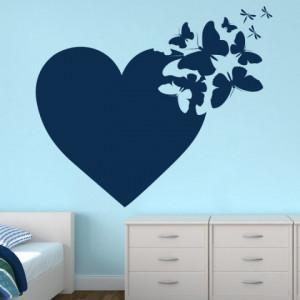 Sticker De Perete Fluturi Din Inima