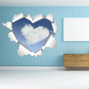 Sticker de Perete Inima si Cer 3D