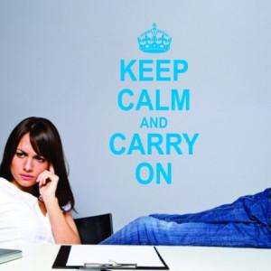 Sticker De Perete Keep Calm And Carry On