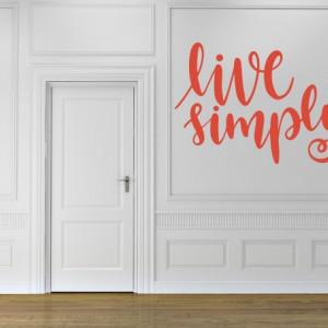 Sticker De Perete Live Simply