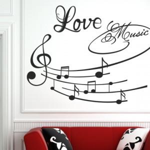 Sticker De Perete Love Music