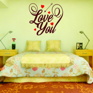 Sticker De Perete Love You