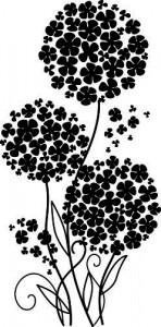 Sticker De Perete Minunat Buchet De Flori