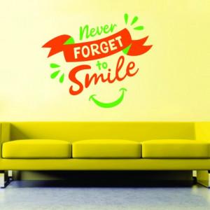 Sticker De Perete Never Forget To Smile
